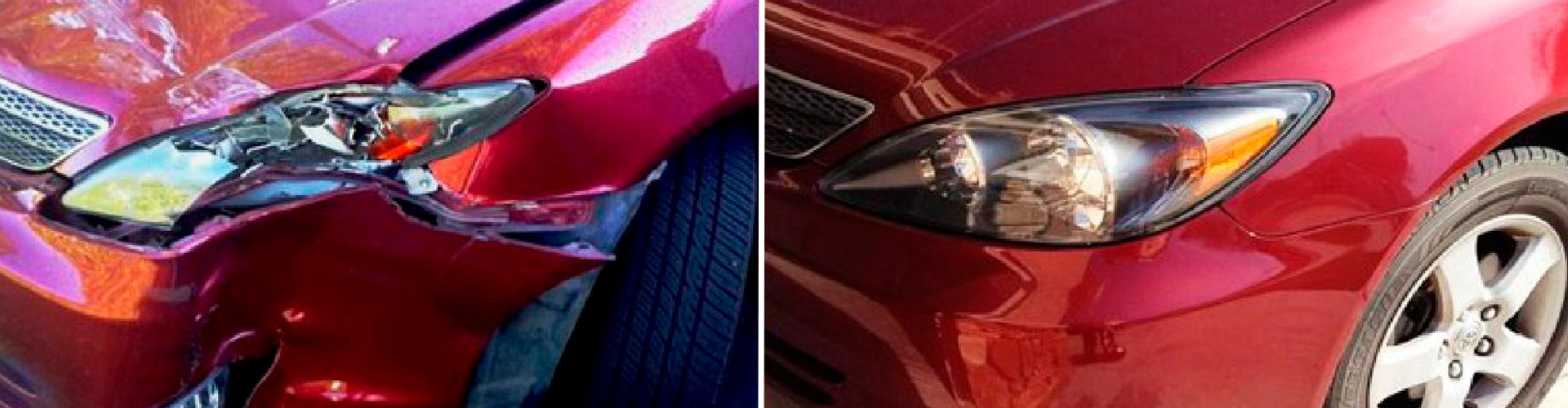 Авто до и после ремонта кузова
