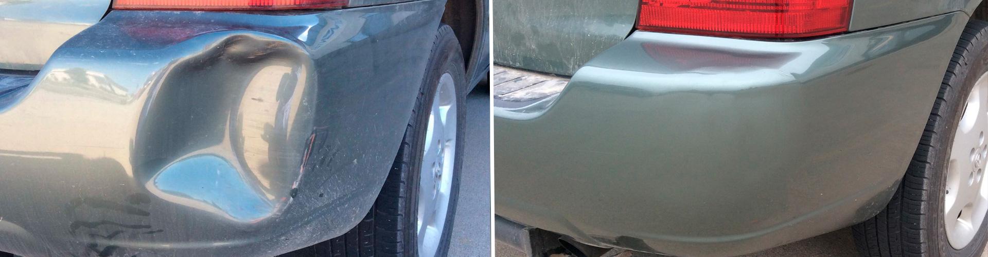 До и после кузовных работ